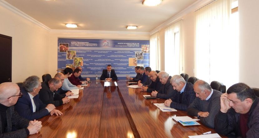 MINISTRY of AGRICULTURE DISCUSSED PROBLEMS caused by drought