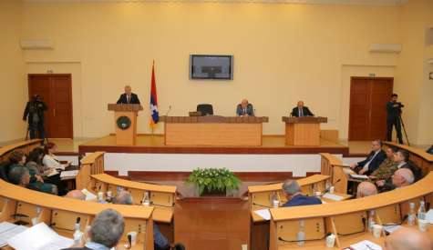 Republic of Artsakh President's Report Heard at the Parliament