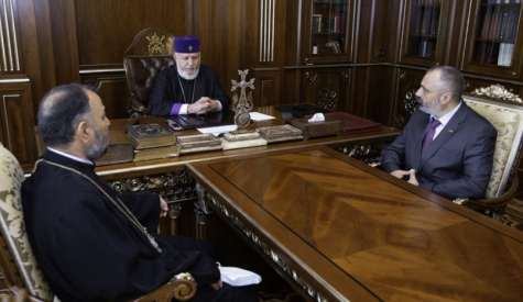Meeting of Foreign Minister David Babayan and Supreme Patriarch and Catholicos of All Armenians His Holiness Karekin II