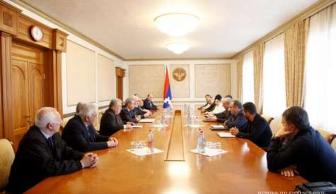 Meeting with the delegation of the Pan-Armenian Games' World Committee