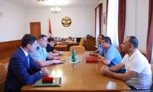 Араик Арутюнян принял председателя Следственного комитета Республики Армения Айка Григоряна