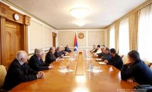 Встреча с делегацией Международного комитета Всеармянских игр