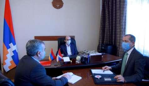 Артак Бегларян обсудил с руководителем миссии Красного Креста в Арцахе ряд гуманитарных программ