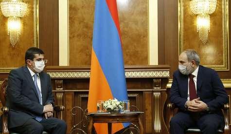 Состоялась встреча Президента Арцаха Араика Арутюняна с премьер-министром РА Николом Пашиняном