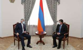 Араик Арутюнян встретился в Ереване с вице-премьером РА Мгером Григоряном