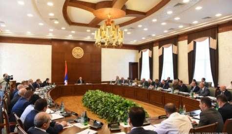 Заседание правительства под председательством Бако Саакяна